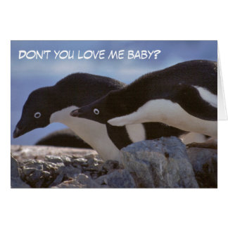Penguins Valentine's Day Greetings Card