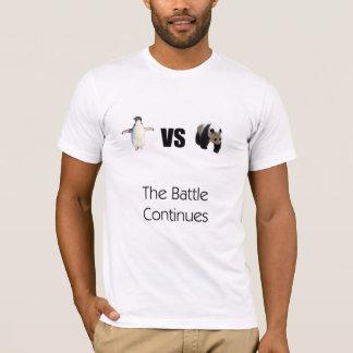 Penguins versus Pandas shirt  The Battle Continues