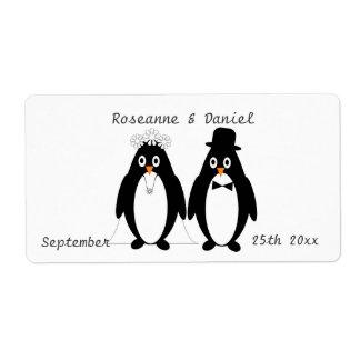 Penguins Wedding Favor Label