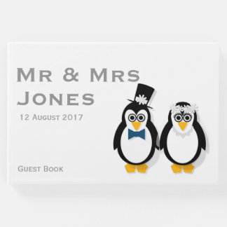 Penguins Wedding Guest Book (Customisable)