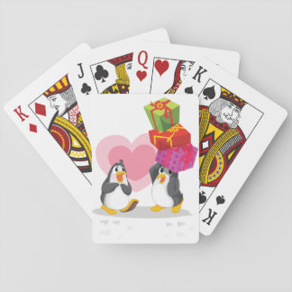 Penguins With Gifts Playing Cards