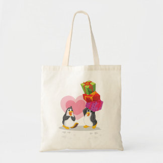 Penguins With Gifts Tote Bag