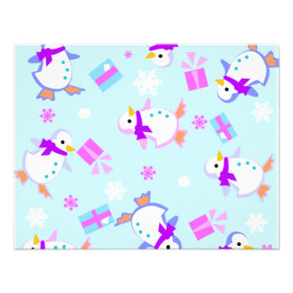 penguins with presents personalized announcements