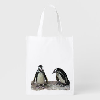 Penguins Reusable Grocery Bags