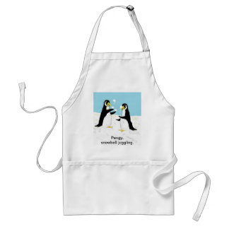 Pengy Penguin, snowball juggling Adult Apron