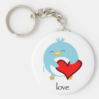 Pengy the Penguin Love Keychain