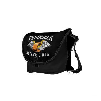 Peninsula Roller Girls - Small Rickshaw Messenger Commuter Bag