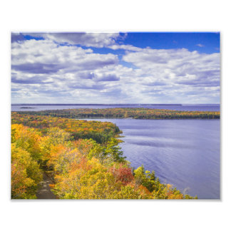 Peninsula State Park Tower, WI - View in Fall Photographic Print