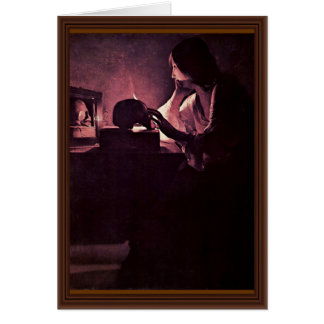 Penitent Mary Magdalene (Magdalena Fabius) Card