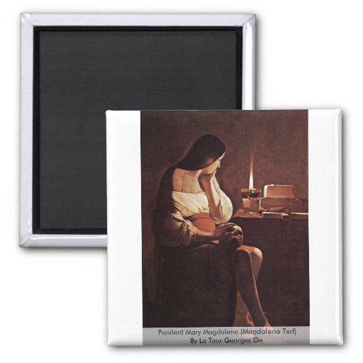 Penitent Mary Magdalene (Magdalena Terf) Refrigerator Magnets