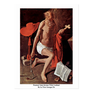 Penitent Saint Jerome With Cardinal Postcard