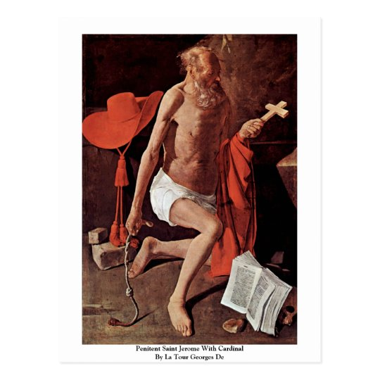 Penitent Saint Jerome With Cardinal Postcard