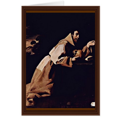 Penitent St. Francis By Zurbarán Francisco De Greeting Card