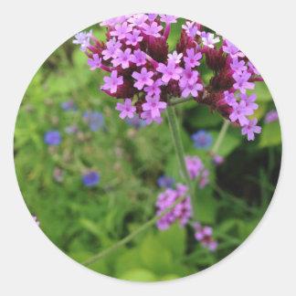 Penland Purple Flower: Sallie by My Side Classic Round Sticker