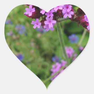 Penland Purple Flower: Sallie by My Side Heart Sticker