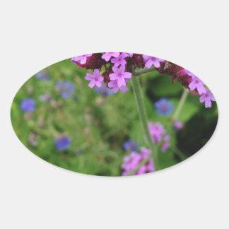 Penland Purple Flower: Sallie by My Side Oval Sticker