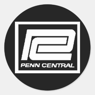Penn Central Railway Company Logo Round Sticker