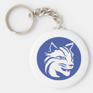 Penn College Basic Round Button Keychain