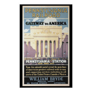 Penn Station,Gateway To America 1929 Poster Prints