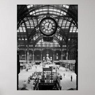 Penn Station New York City Vintage Circa 1900 Poster