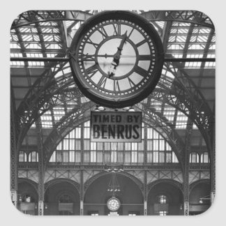 Penn Station New York Magic Lantern Slide Vintage Square Sticker