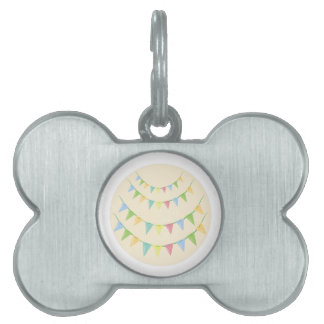 Pennant Decoration Pet Name Tags