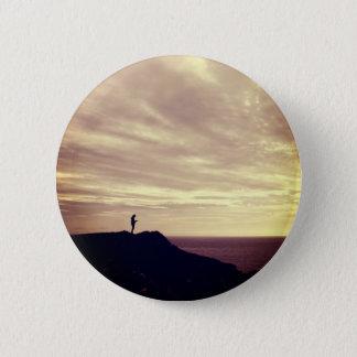 Pennard cliffs at sunset, Gower, Swansea 2 Inch Round Button