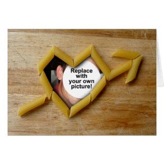 Penne Love Photo Template Folding Card