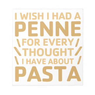 Penne Pasta Notepad