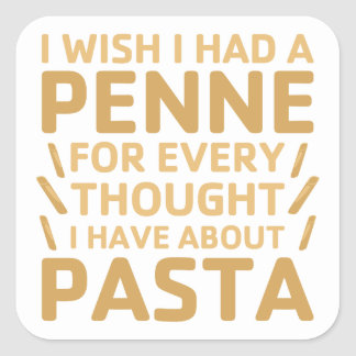 Penne Pasta Square Sticker