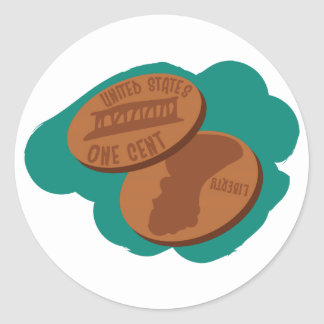 Pennies Round Sticker