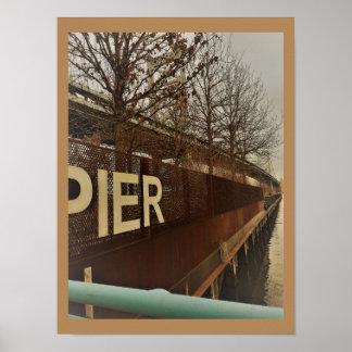 Penn's Landing Pier Philadelphia Poster
