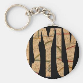 pennsylvania1811 basic round button keychain