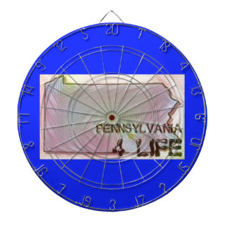"""Pennsylvania 4 Life"" State Map Pride Design Dartboard"