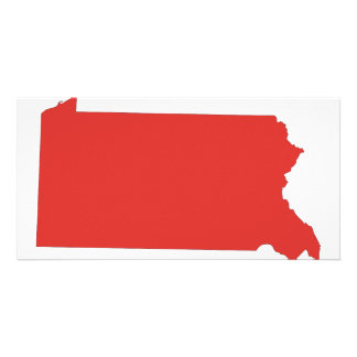 Pennsylvania -a RED state Photo Card Template