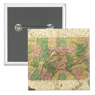 Pennsylvania and New Jersey 2 2 Inch Square Button