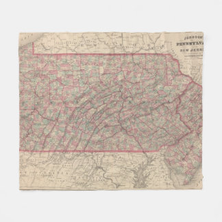 Pennsylvania and New Jersey 2 Fleece Blanket