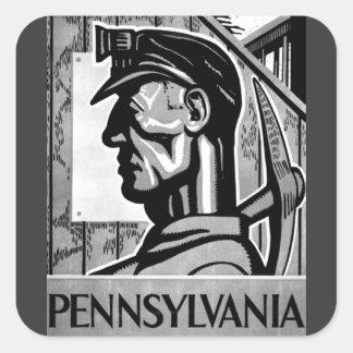 Pennsylvania Coal Poster WPA 1938 Sticker