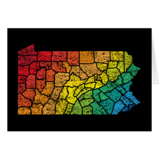 pennsylvania color counties card