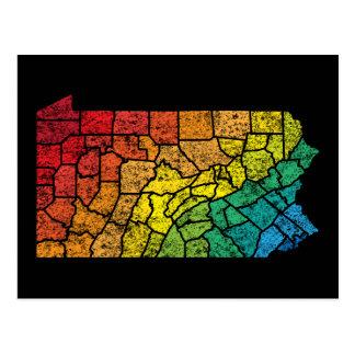 pennsylvania colour counties postcard