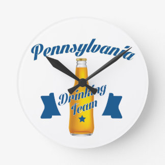 Pennsylvania Drinking team Round Clock