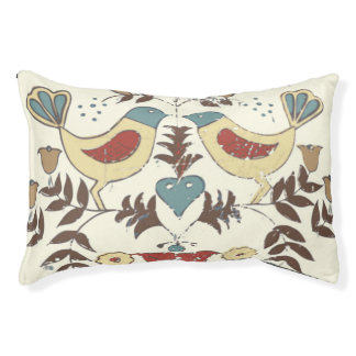 Pennsylvania Dutch Bird Pattern Sign Pet Bed