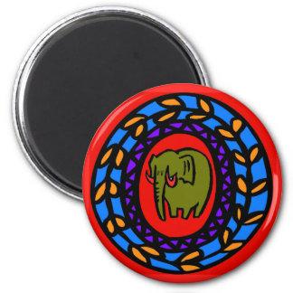Pennsylvania Dutch Hex Sign Elephant Magnet