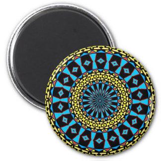 Pennsylvania Dutch Hex Sign Spring Blue Circles Magnet