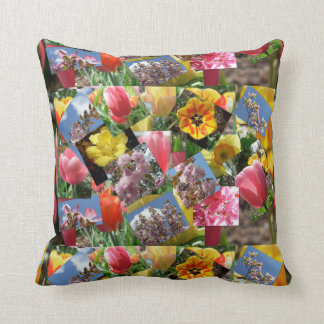 Pennsylvania Flower Garden Polyester Throw Pillow