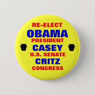 Pennsylvania for Obama Casey Critz 2 Inch Round Button