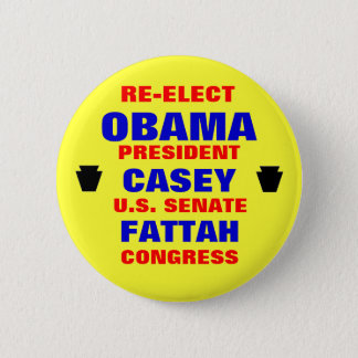 Pennsylvania for Obama Casey Fattah 2 Inch Round Button
