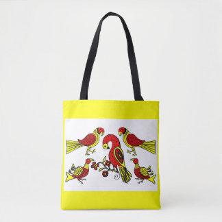 Pennsylvania German folk art birds print Tote Bag