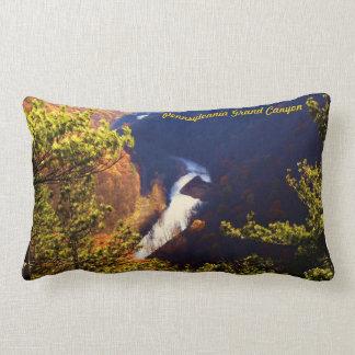 Pennsylvania Grand Canyon ~ Pine Creek Gorge Lumbar Pillow