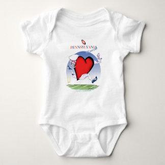 pennsylvania head heart, tony fernandes baby bodysuit